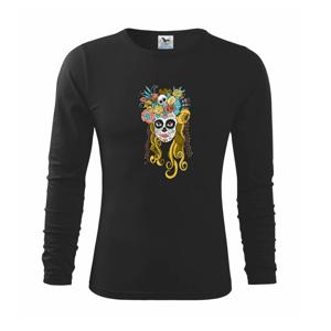 Mexická maska - žena - Tričko detské Long Sleeve