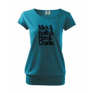 Mick Keith Ron Charlie - Voľné tričko city