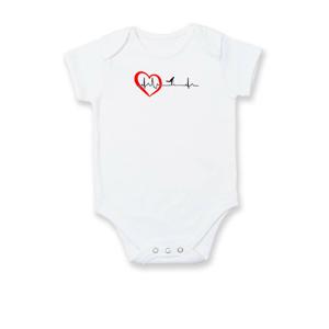 Moje srdce bije pre kolobežky - Dojčenské body