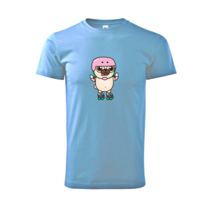 Mops a kolieskové korčule - Heavy new - tričko pánske
