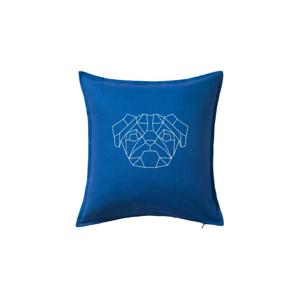 Mops - Geometria - jednoduchý - Vankúš 50x50