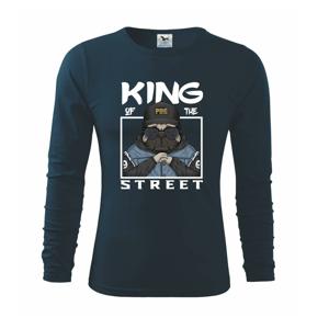 Mops king of street - Tričko s dlhým rukávom FIT-T long sleeve