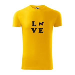 Mops love - Viper FIT pánske tričko