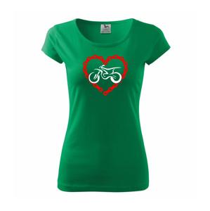 Moto srdce reťaz - enduro - Pure dámske tričko