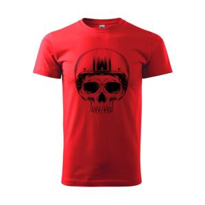 Motorkár lebka s guľatou hlavou - Heavy new - tričko pánske