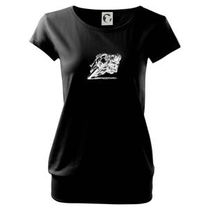 Motorkár skica - Voľné tričko city