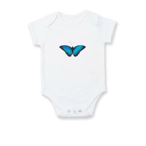 Motýľ Babôčka Morpho Peleides - Dojčenské body