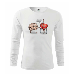 Mozog a srdce - poučenie (Hana-creative) - Tričko detské Long Sleeve