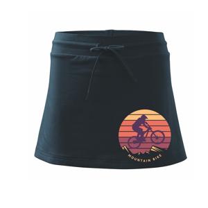 MTB farebné kolo západ slnka - Športová sukne - two in one