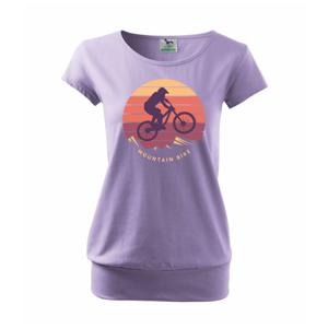 MTB farebné kolo západ slnka - Voľné tričko city