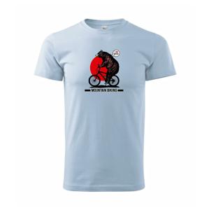 MTB medveď - Heavy new - tričko pánske