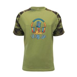 Music is my life slúchadlá - Raglan Military