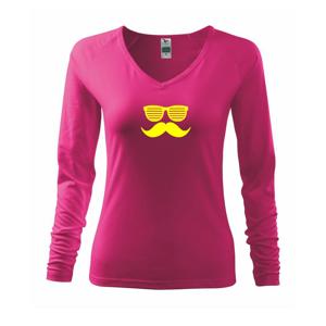 Mustache okuliare - Tričko dámske Elegance