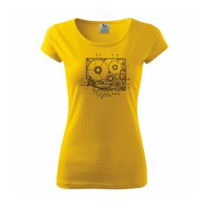 Nákres kotúčový prehrávač - Pure dámske tričko