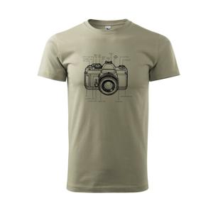 Nákres starý fotoaparát - Tričko Basic Extra veľké