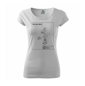 Nákres TV videohra na kazety - Pure dámske tričko