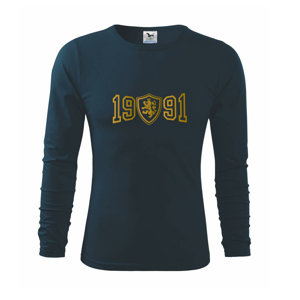 Narodeninový motív - znak - zlatá potlač - Tričko s dlhým rukávom FIT-T long sleeve