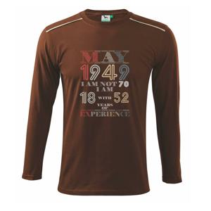 Narodeniny experience 1949 may - Tričko s dlhým rukávom Long Sleeve