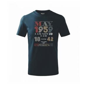 Narodeniny experience 1959 may - Tričko detské basic