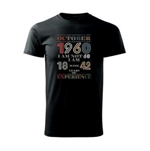Narodeniny experience 1960 october - Heavy new - tričko pánske