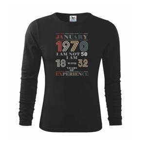 Narodeniny experience 1970 january - Tričko detské Long Sleeve