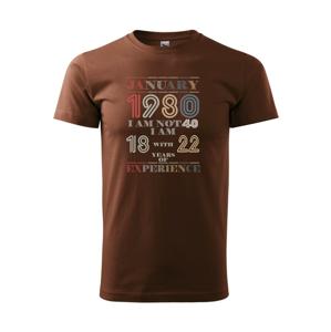 Narodeniny experience 1980 january - Heavy new - tričko pánske