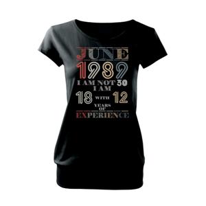 Narodeniny experience 1989 june - Voľné tričko city
