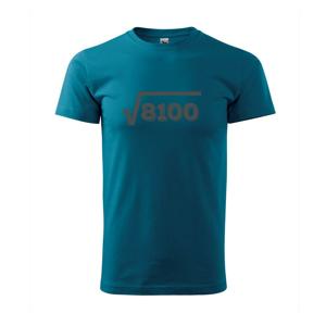 Narodeniny odmocniny 90 - Tričko Basic Extra veľké