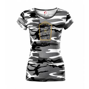 Narodený v ČSSR - Dámske maskáčové tričko