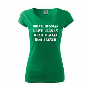 Návod na život - vojensky - Pure dámske tričko