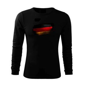 Nemecká vlajka ohryzaná - Tričko s dlhým rukávom FIT-T long sleeve