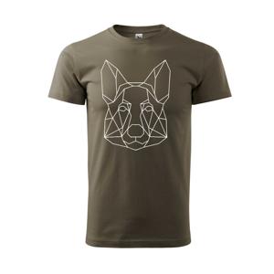 Nemecký ovčiak - Geometria - Tričko Basic Extra veľké