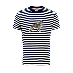 Nemecký ovčiak - hnedý kreslený - Unisex tričko na vodu