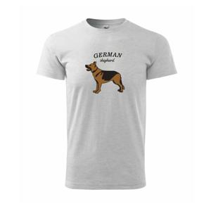 Nemecký ovčiak - hnedý s nápisom - Heavy new - tričko pánske