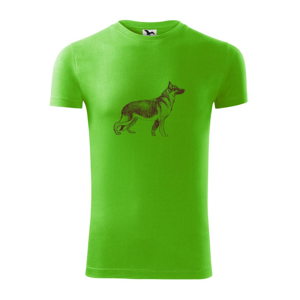 Nemecký ovčiak - kreslený skica  - Viper FIT pánske tričko