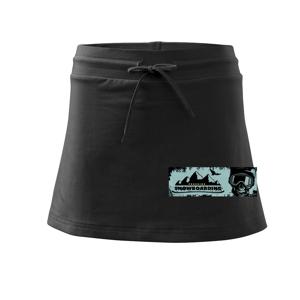 Obdĺžnik snowboarding lebka - Športová sukne - two in one