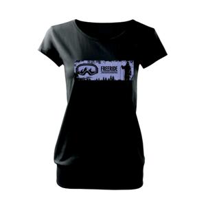 Obdĺžnik snowboarding okuliare - Voľné tričko city