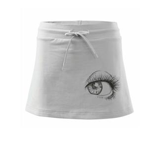 Obrie oko čiernobiele - Športová sukne - two in one