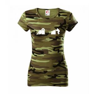 Paintball strelec - Dámske maskáčové tričko