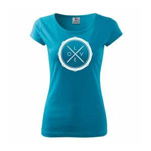 Paličky bicie LOVE - Pure dámske tričko