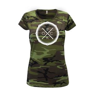 Paličky bicie ROCK - Dámske maskáčové tričko