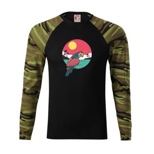 Papoušek v kruhu u moře - Camouflage LS