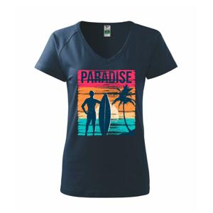 Paradise - farebný štvorec - Tričko dámske Dream