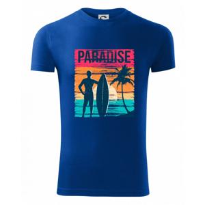 Paradise - farebný štvorec - Viper FIT pánske tričko