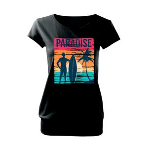 Paradise - farebný štvorec - Voľné tričko city
