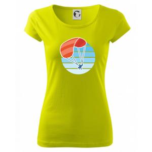 Paragliding oranžový v modrom koliesku - Pure dámske tričko