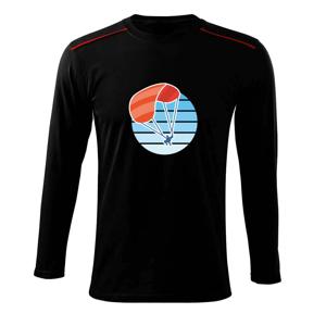 Paragliding oranžový v modrom koliesku - Tričko s dlhým rukávom Long Sleeve
