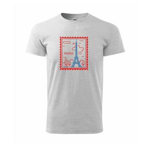 Paríž známka jednoduchá - Heavy new - tričko pánske