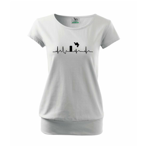 Parkour ekg - Voľné tričko city