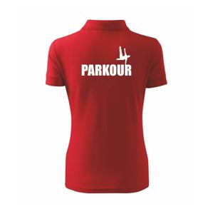 Parkour - na jednej ruke - Polokošeľa dámska Pique Polo